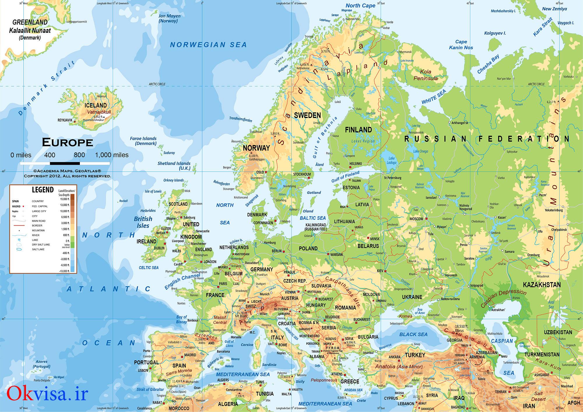نقشه-اروپا-