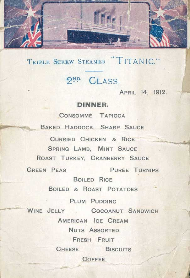 titanic-منو غذایی 3