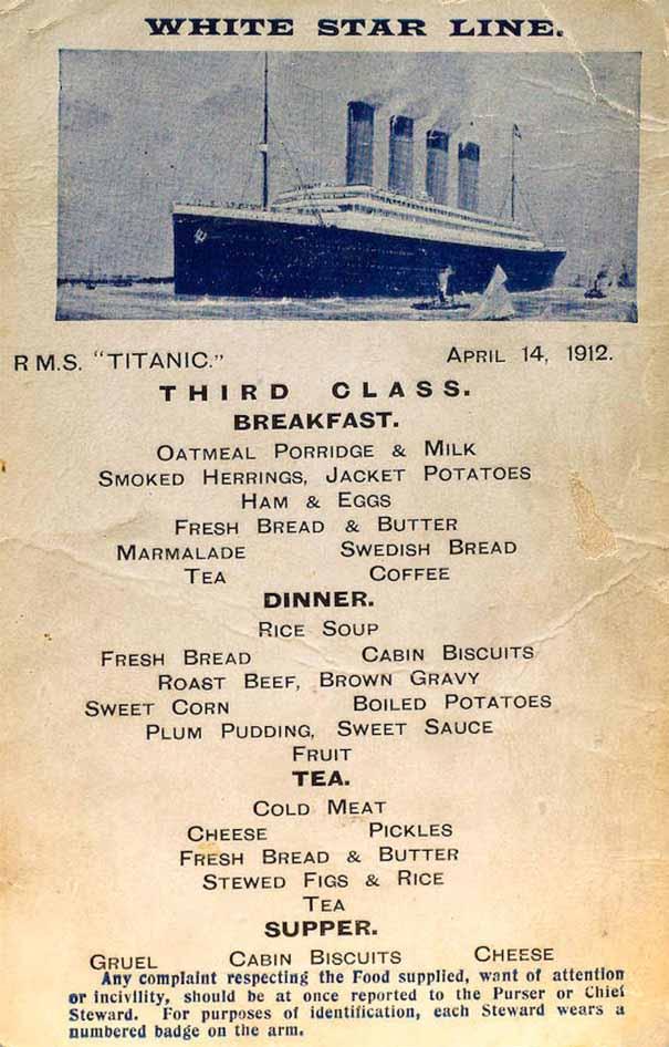 titanic-منو غذایی 4